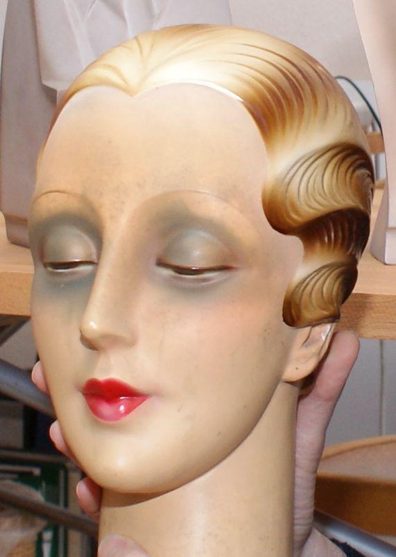 Kopf Schaufensterfigur Knapp