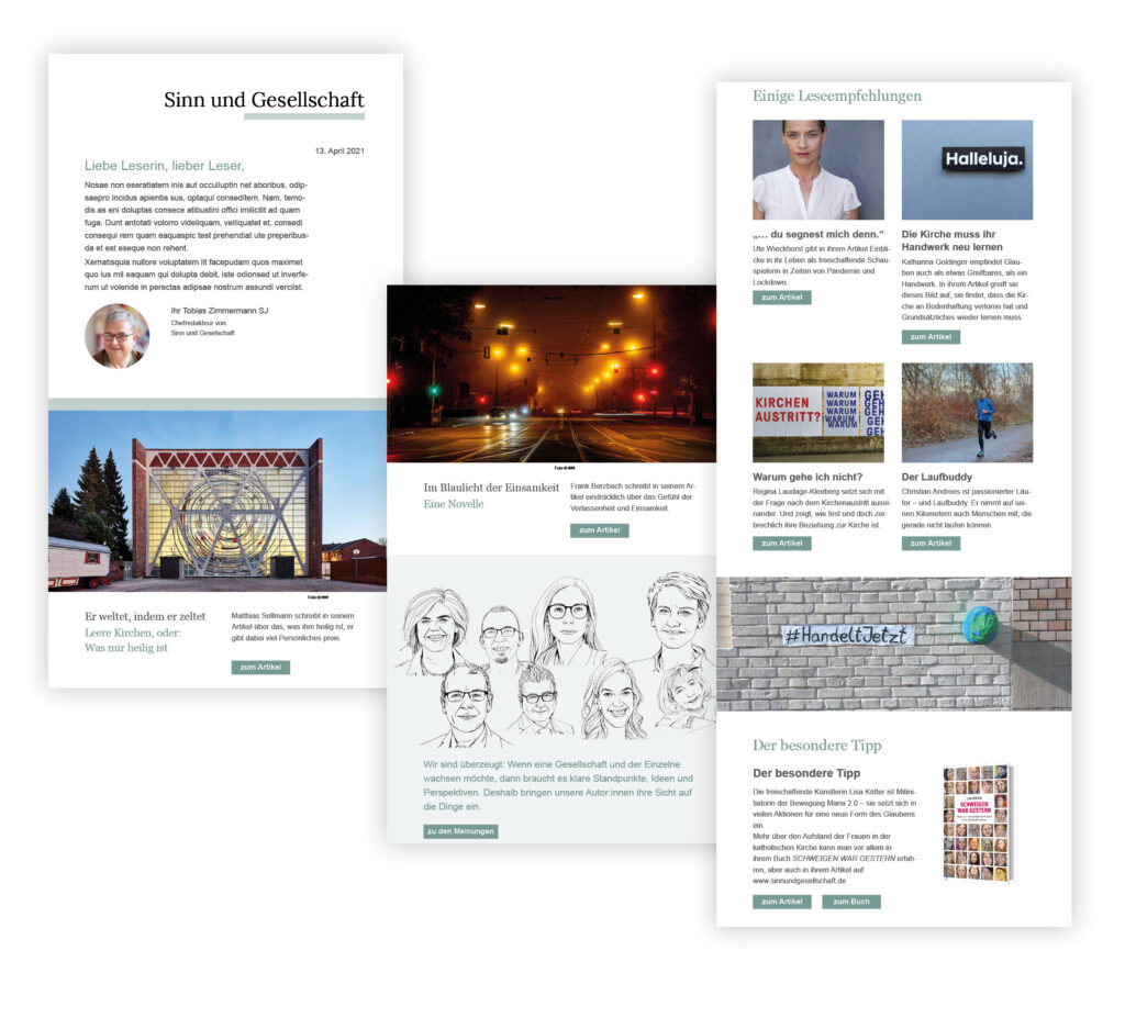Newsletter Sinn und Gesellschaft